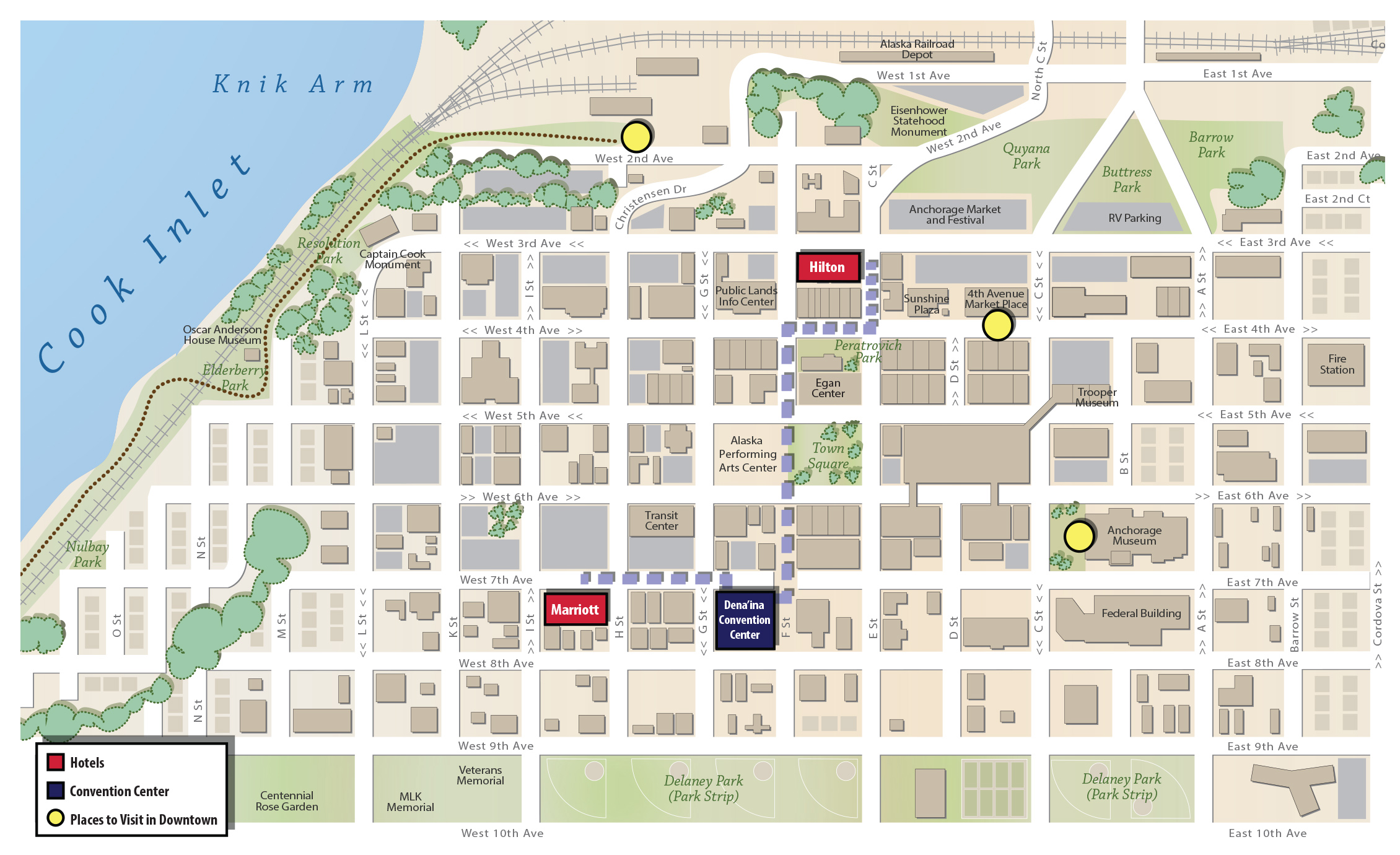 Downtown Anchorage Map